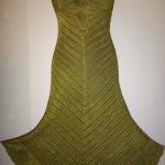 Зеленое ажурное платье