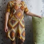 Платье из ромбов