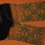 Шарфик (комбинирование ткани, вязания и вышивки бисером)