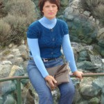 Синяя кофточка с коротким рукавом