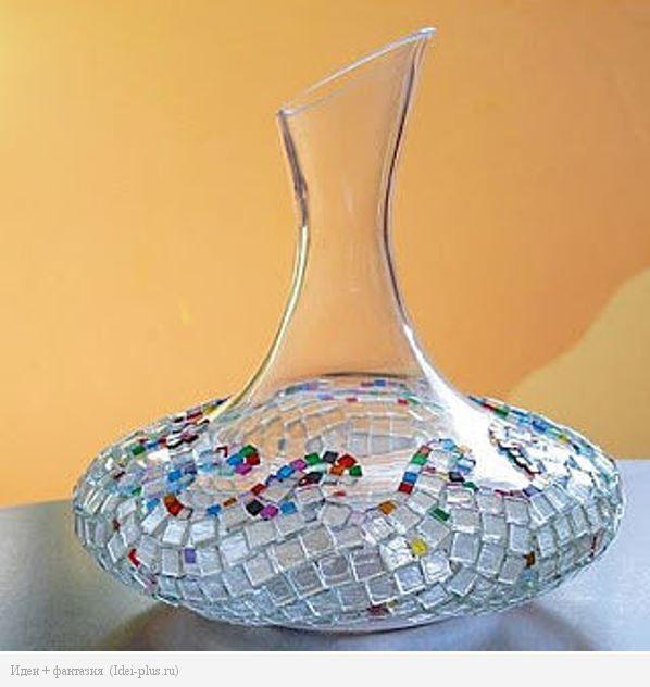 Как задекорировать стеклянную вазу