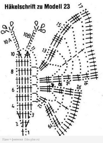 Схема бабочки 1