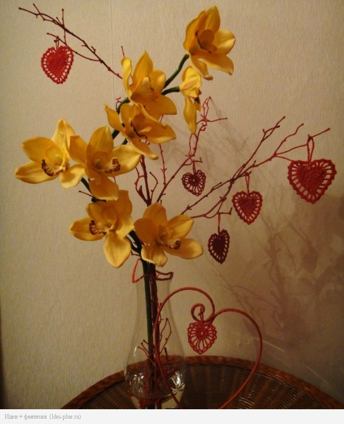 Вязаные Валентинки