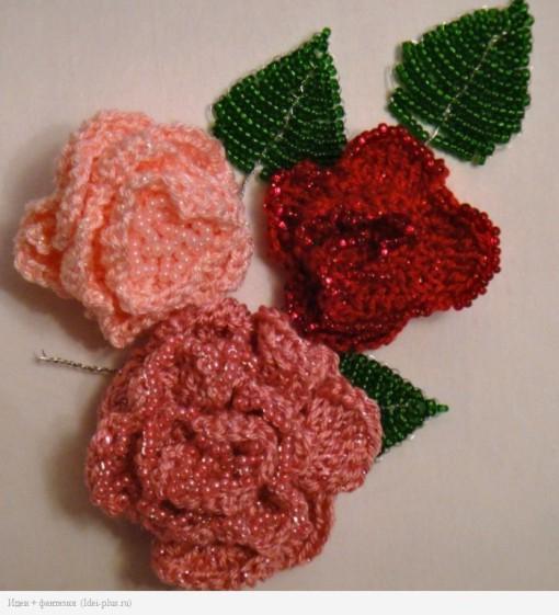 Розы и листья заготовки