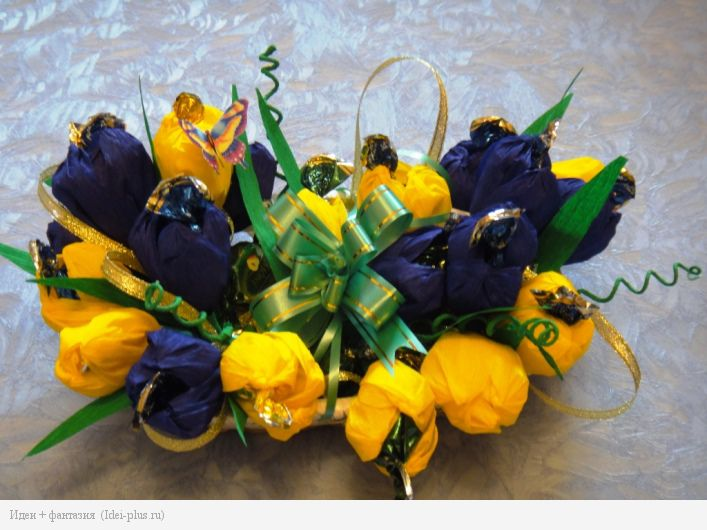 Сине-желтая композиция
