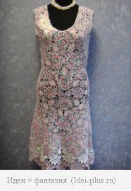 Платье в стиле ирландского кружева