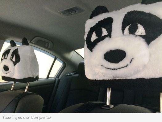 Панды в машине